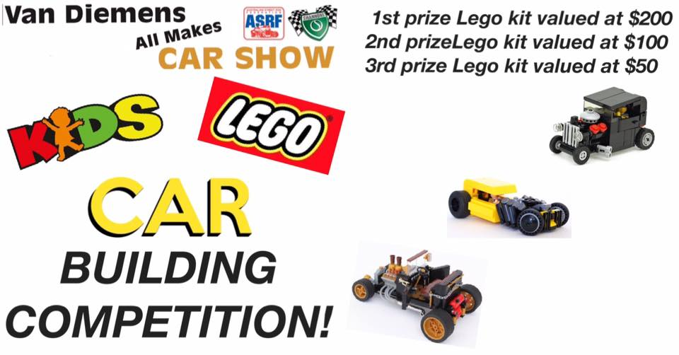 Van Diemens All Makes Car Show Lego competition